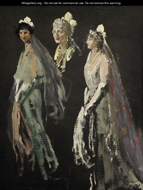 Portrait Studies Of The Lady Duveen Of Millbank, The Hon. Dorothy Duveen And Miss Shelagh Morrison-Bell - Sir John Lavery