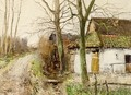 Farm House In A Landscape - Willem Van Der Nat