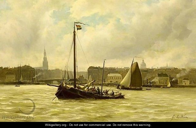 Nicolaas Riegen   Paintings prev. for Sale   Sailing ships