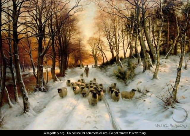 Through The Calm And Frosty Air - Joseph Farquharson