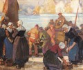 A Breton Fish Market - Robert Hope