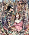 Two Girls Gathering Snowdrops - Edward Atkinson Hornel