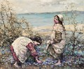 Collecting Violets At Brighouse Bay - Edward Atkinson Hornel
