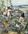 Girls Among The Violets - Edward Atkinson Hornel