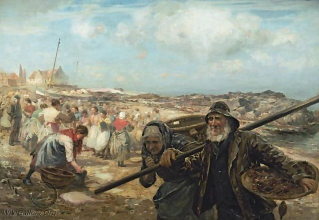 The Fish Market, Cockenzie - William Mason Brown