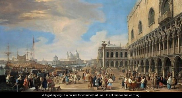 Venice, A View Of The Molo With The Doge