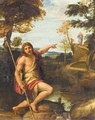 Saint John The Baptist In A Landscape Pointing At The Figure Of Christ - Annibale Carracci