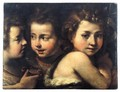 Study Of Three Heads Of Children - Giulio Cesare Procaccini
