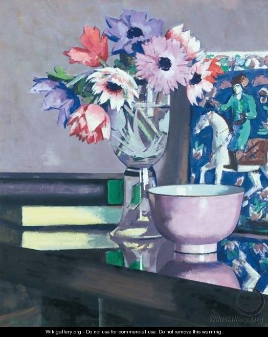 Still Life With Anemones - Francis Campbell Boileau Cadell