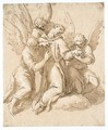St. Francis Tended By Three Angels - Jacopo d'Antonio Negretti (see Palma Giovane)