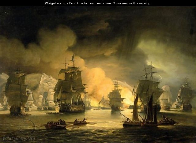 The Bombardment Of Algiers - Thomas Luny