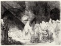 Presentation In The Temple Oblong Plate - Rembrandt Van Rijn