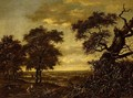 Travellers On A Path In An Extensive Wooded Landscape - (after) Jan Wijnants