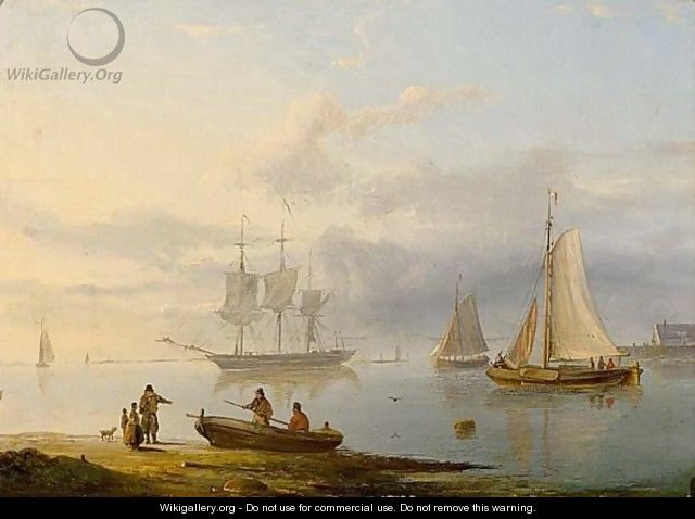 Shipping In Calm - Pieter Hendrik Thomas