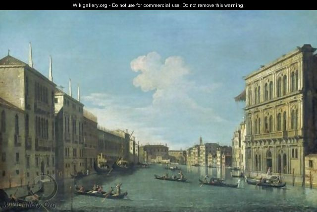 Venice, A View Of The Grand Canal From The Palazzo Vendramin-Calergi Looking Towards The Cannaregio - (after) (Giovanni Antonio Canal) Canaletto