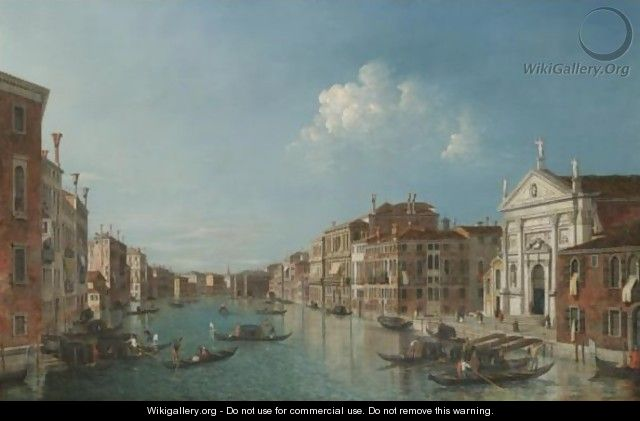Venice, A View Of The Grand Canal Looking South-East With The Church Of San Stae And The Fabbriche Nuove - (after) (Giovanni Antonio Canal) Canaletto