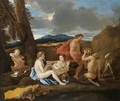 A Bacchanal With Satyrs And Nymphs In A Landscape - (after) Nicolas Poussin