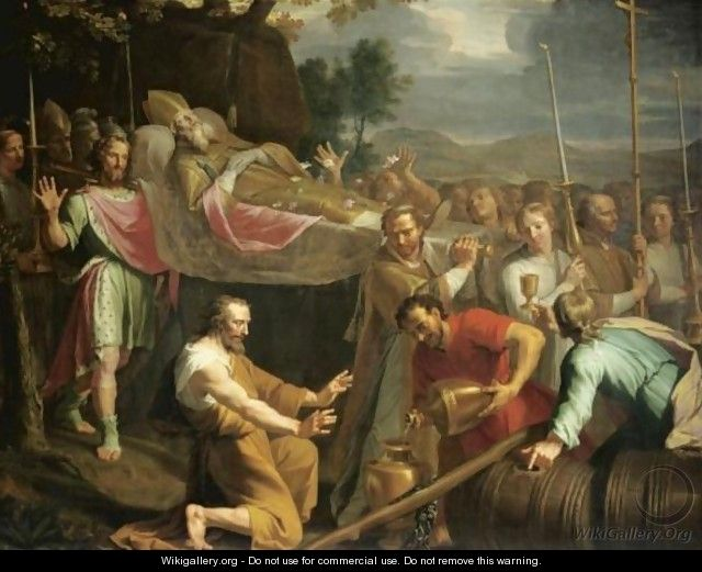 The Miracle Of St Arnould - (after) Philippe De Champaigne