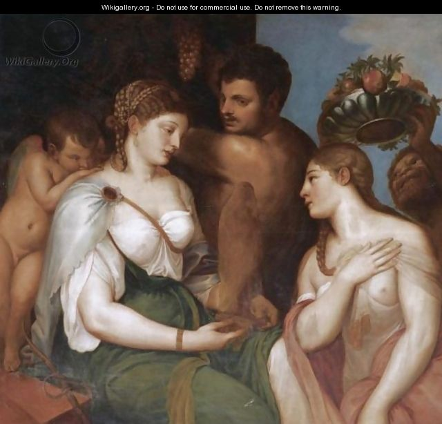 An Allegory With Venus, Bacchus And Ceres - (after) Tiziano Vecellio (Titian)