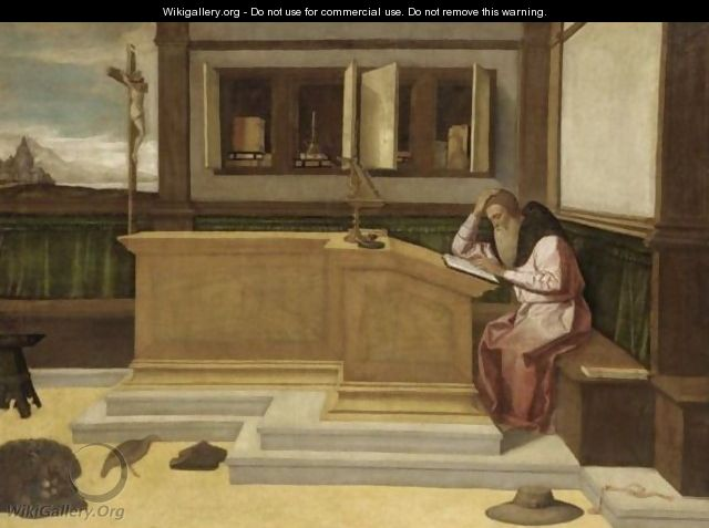 Saint Jerome In His Study - (after) Vincenzo Di Biagio Catena