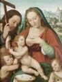 The Holy Family With The Infant Saint John Ther Baptist And An Angel - (after) Vicente Juan (Juan De Juanes) Macip