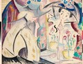 Woman At Her Dressing Table - Alice Bailly