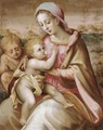 The Madonna Suckling The Christ Child With The Infant Saint John The Baptist In A Landscape - Francesco Del Brina