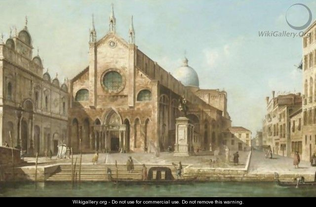 Venice, A View Of Ss. Giovanni E Paolo And The Monument To Bartolommeo Colleoni - (after) (Giovanni Antonio Canal) Canaletto