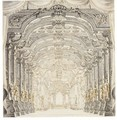 Two Elaborate Stage Designs - Giuseppe Galli Bibiena