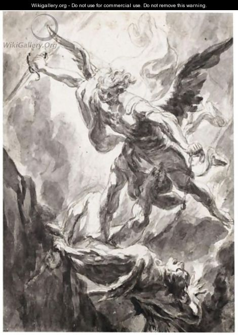 St. Michael (St. Michael the Archangel) Painting by Luca Giordano