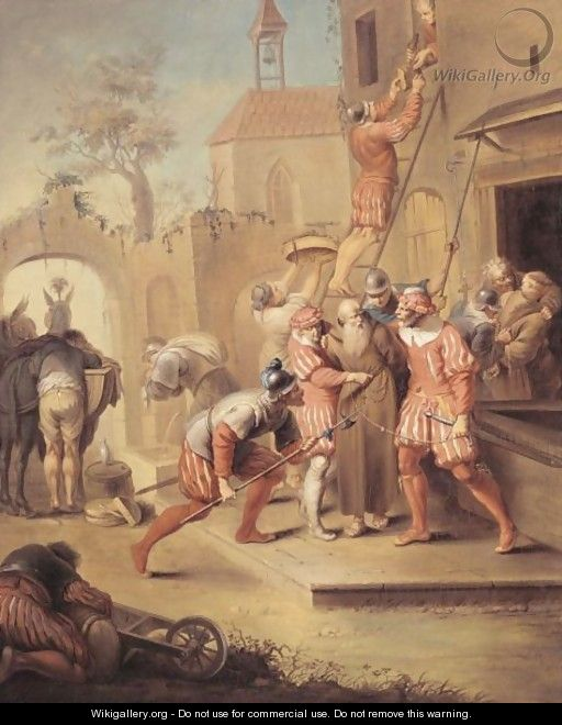 Soldiers Pillaging A Monastery - (after) Januarius Zick