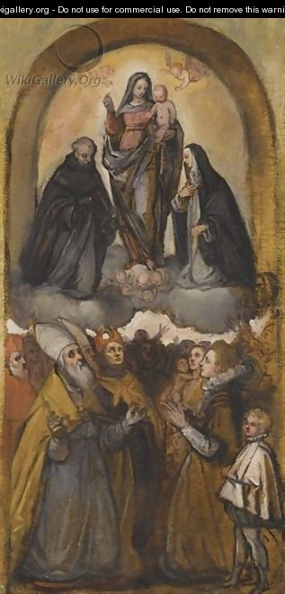 The Madonna And Child With Various Saints And A Kneeling Donor - Florentine School