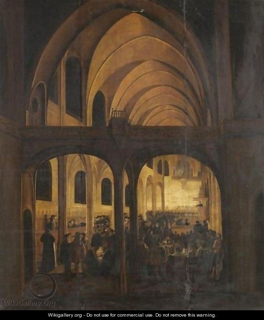 Interior Of A Protestant Church During A Service - Wolfgang Heimbach