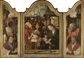 A Triptych The Adoration Of The Magileft Wing Melchior - (after) Pieter Coecke Van Aelst