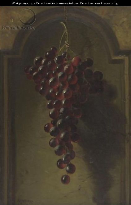 Hanging Grapes In A Niche - Andrew John Henry Way