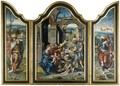 A Triptych Representing The Adoration Of The Magi - (after) Pieter Coecke Van Aelst