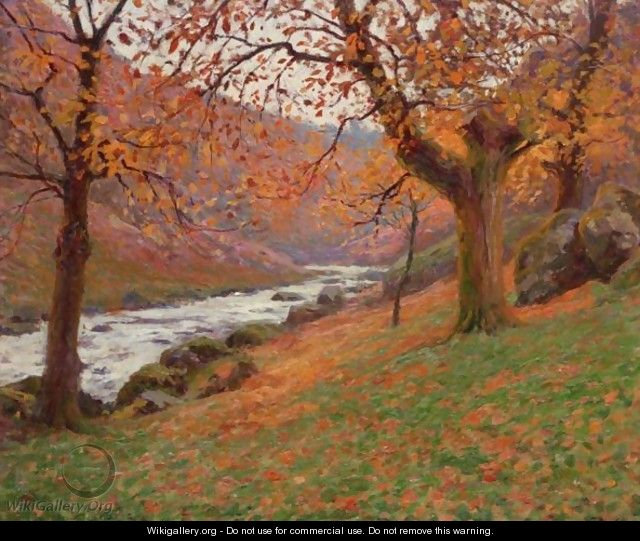 foto de Paysage D'Automne - Paul Madeline - WikiGallery.org, the largest ...