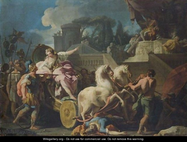 Tullia Driving Her Chariot Over Her Father
