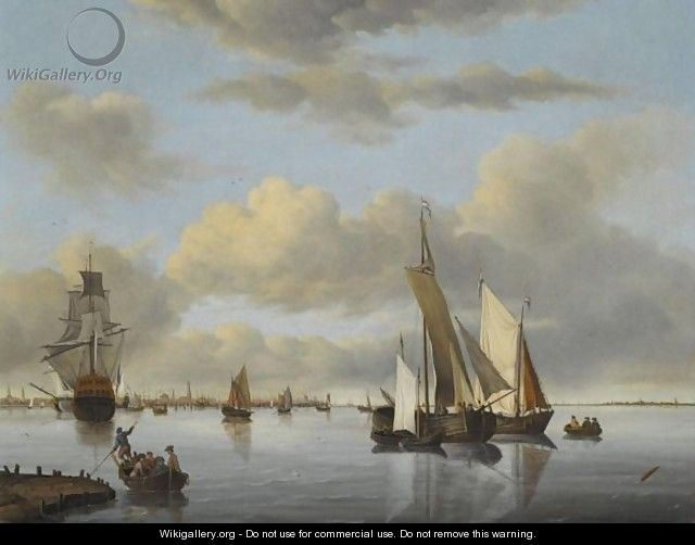 Dutch Shipping In A Calm, The City Of Amsterdam Beyond - Jan Wubbels