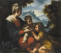 The Madonna And Child With Saint John The Baptist - Michele Da Parma (see Rocca)