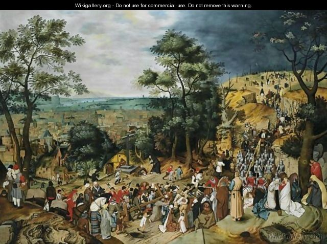 The Procession To Calvary - Pieter The Younger Brueghel