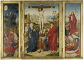 A Triptych Representing The Crucifixion, Flanked By The Agony In The Garden And The Resurrection, With Scenes From The Passion Beyond - Barthel Bruyn