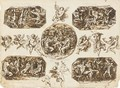 Scenes From The Life Of Paris, And Studies Of Putti - Felice Giani