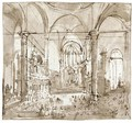 The Interior Of The Church Of S. Zanipolo, Venice - Francesco Guardi