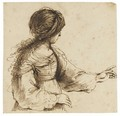 A Fortune Teller A Woman Wearing A Scarf On Her Head, Turned To The Left - Giovanni Francesco Guercino (BARBIERI)