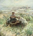 Children On The Dunes 2 - Robert Gemmell Hutchison