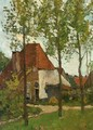 A View Of Farmhouses, Renkum - Theophile Emile Achille De Bock