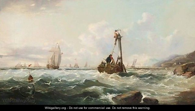 Repairing A Lantern At Sea - John James Wilson
