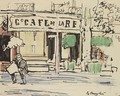 The Morning News, Cafe A Vence - George Leslie Hunter