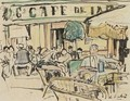 Cafe A Vence - George Leslie Hunter